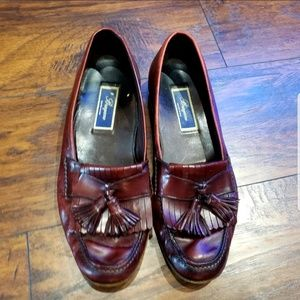 Bragano Italy Mens 11.5M Dress Loafers Burgundy